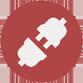 Bildet viser ikon av to kontakter med hun/han- kjønn